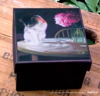 Peaches and Peonies Keepsake Box.