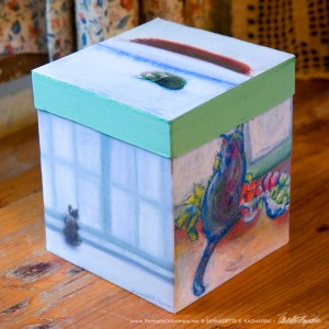 """Winter Cats"" Keepsake Box"