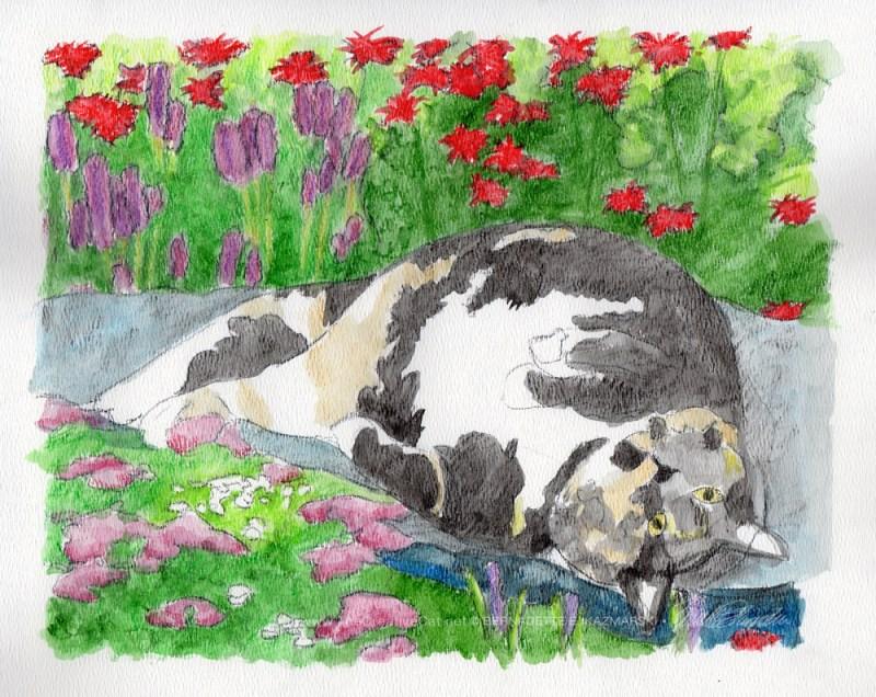 """General Keisha (in progress)"", dry and wet watercolor pencils on textured watercolor paper, 14"" x 11"" © Bernadette E. Kazmarski"