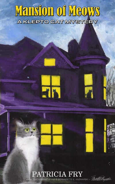 book cover for cat mystery