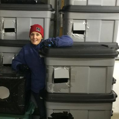 woman with shelters