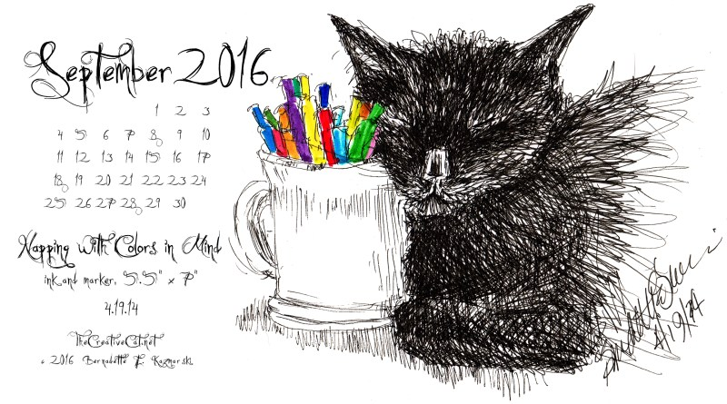 """""""Napping With Colors in Mind"""" desktop calendar 2560 x 1440 for HD and wide screens."""