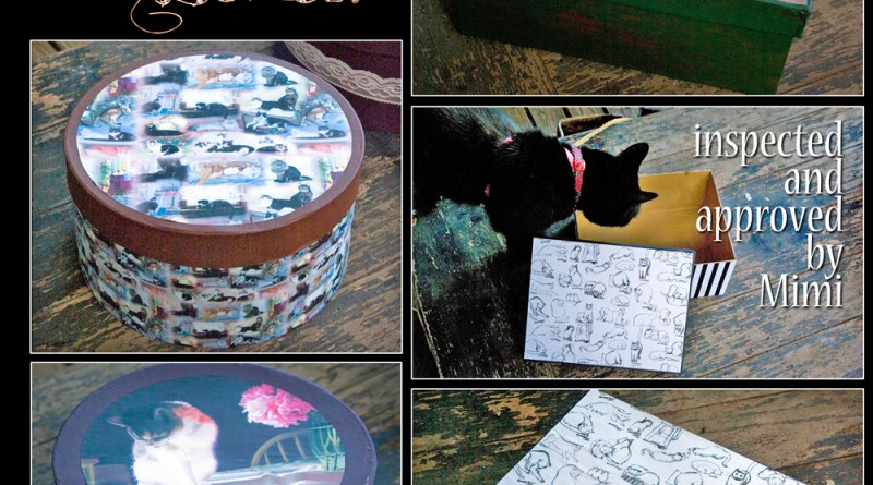 New Feline Keepsake Boxes, inspected and approved by Mimi!