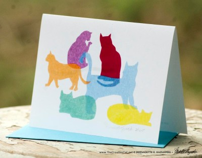 Colorful Cats note cards