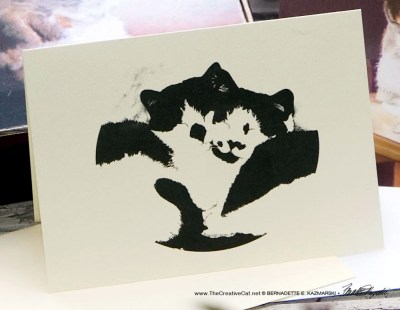 """""""I Like Your Spots"""" note card from Kitties Being Kitties."""