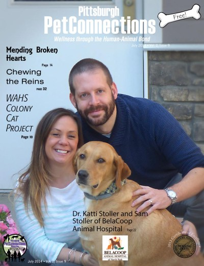 July 2014 issue of Pittsburgh PetConnections magazine.