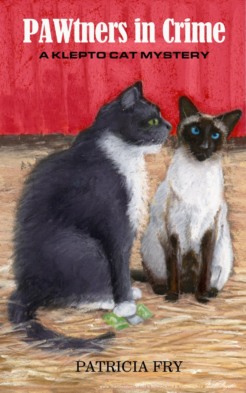 """The final cover for """"PAWtners in Crime"""" by Patricia Fry."""