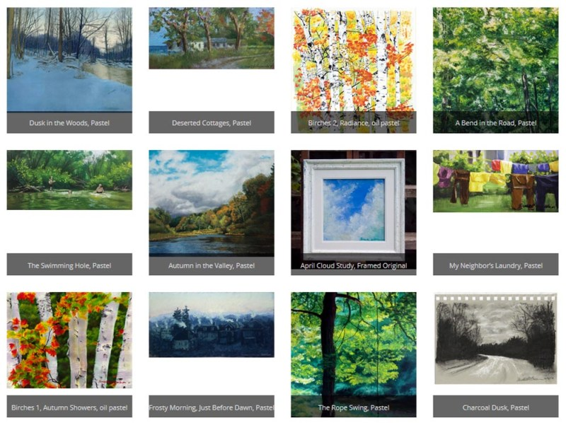 Gallery of landscape paintings.