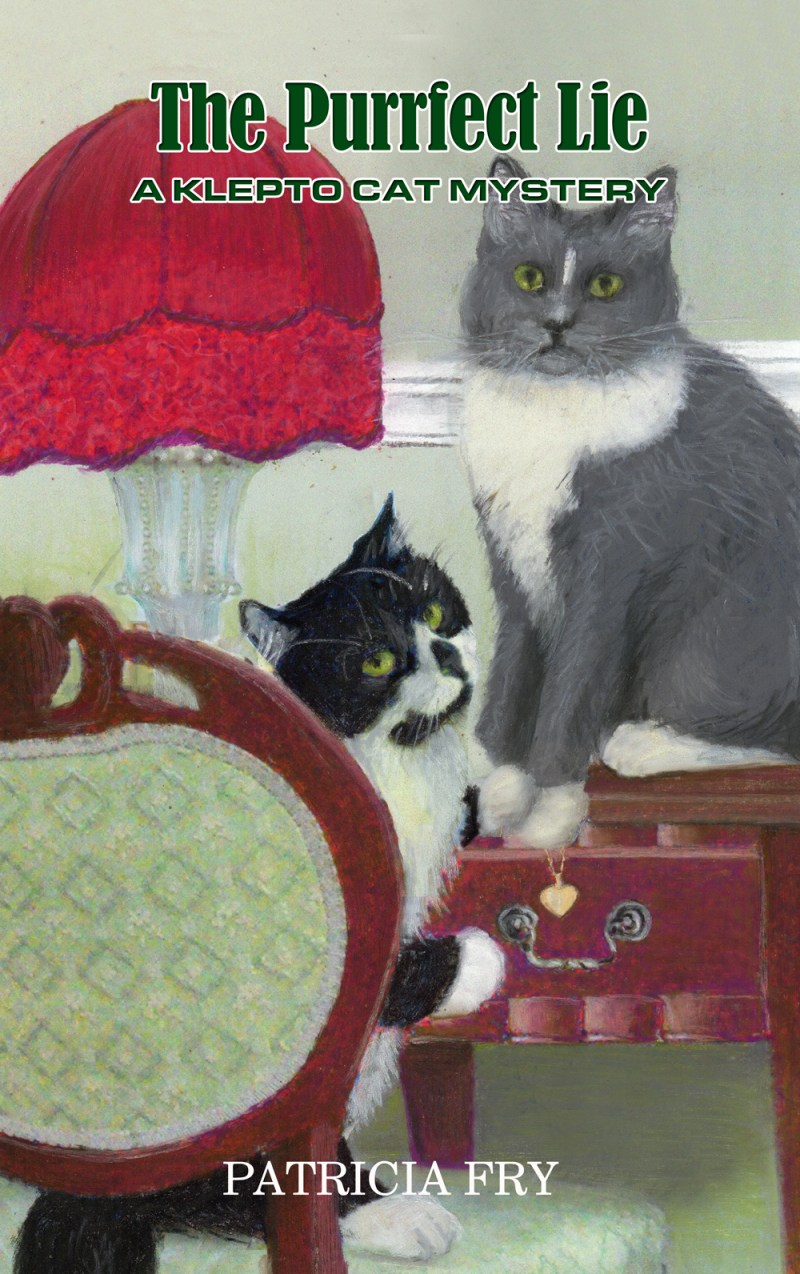 """The final cover for """"The Purrfect Lie"""" by Patricia Fry."""
