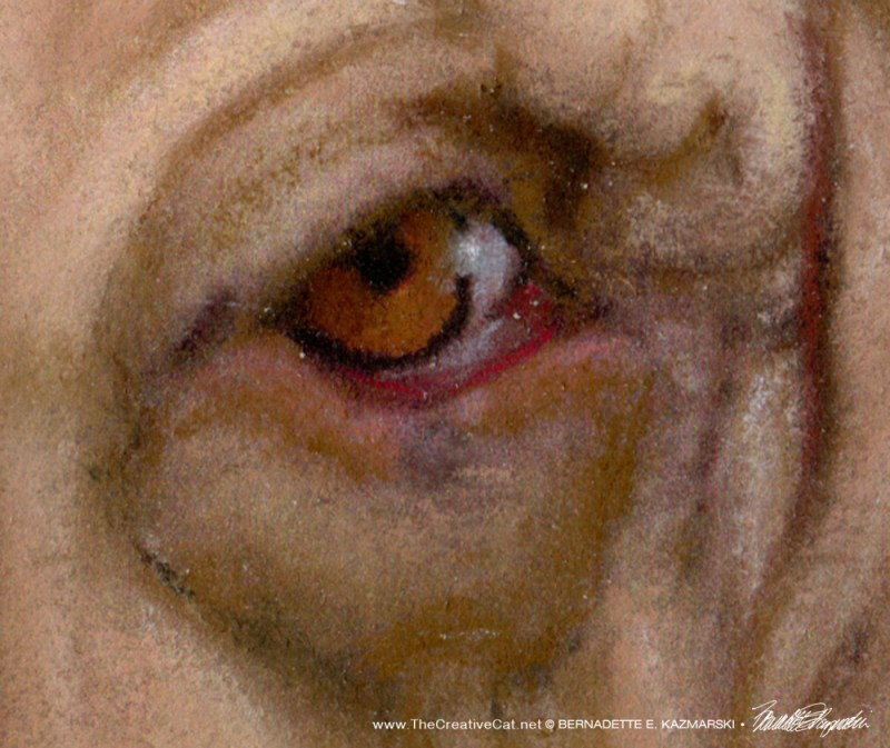Grayson's right eye, for detail.
