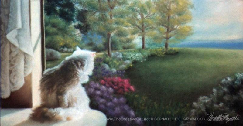 """Spring"", pastel, 12"" x 24"", 1997 © Bernadette E. Kazmarski"