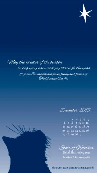 """Star of Wonder"" desktop calendar, for 400 x 712 for mobile phones."