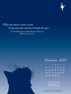 """Star of Wonder"" desktop calendar, 600 x 800 for iPad, Kindle and other readers."