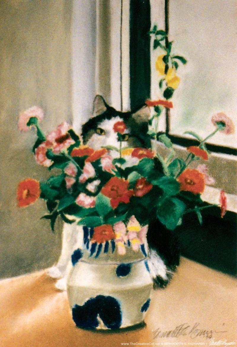 """""""The Perfect Camouflage"""", pastel on Canson Mi Tientes, 11″ x 16″, 1994 © B.E. Kazmarski"""