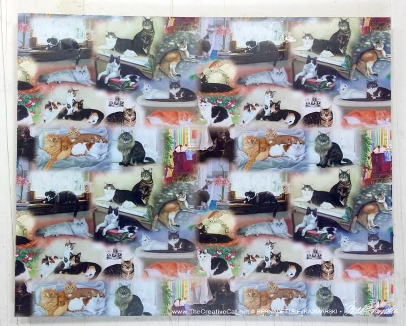 """""""22 Cats"""" hot pad/trivet."""