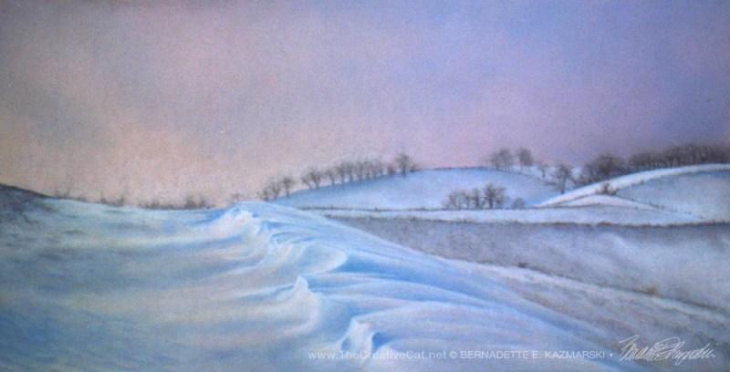 """""""Winter"""", pastel, 12"""" x 24"""", 1997 © B.E. Kazmarski"""