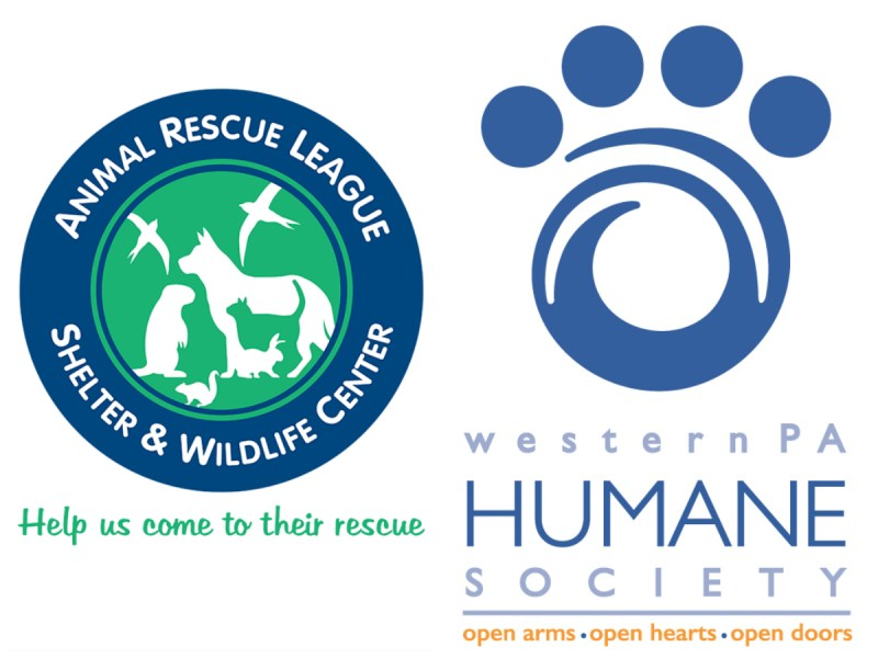 Animal Rescue League and Western PA Humane Society logos.