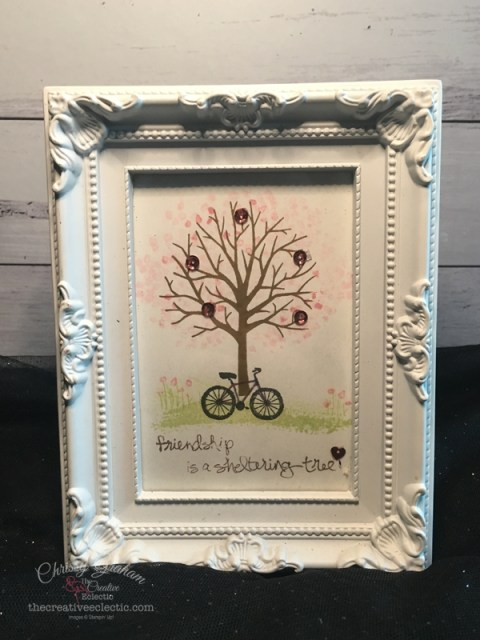 Stamping is NOT Just for Cards - check out these quick easy gifts you can make with stamps, ink, a few sequins and a cheap store bought frame. #Stampinup #cardmaking #handmadecard #rubberstamps #handmadegifts #stamping #thecreativeeclectic #craftwithpurpose #papercraft