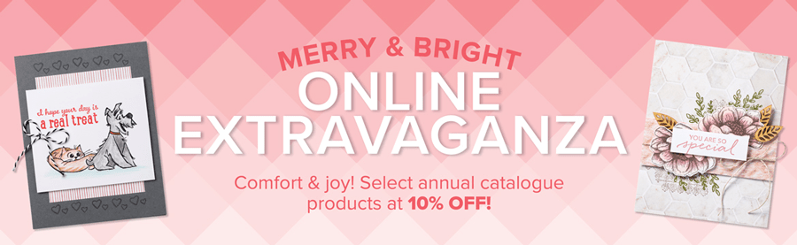Stampin' Up!'s Merry & Bright Online Extravaganza is coming 24 November 2020 #stampinup