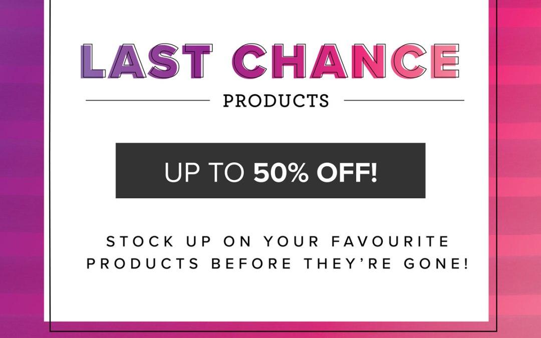 January-June Mini Catalogue Last Chance List