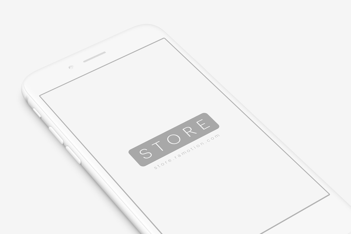 Perspective Clay Iphone Mockup
