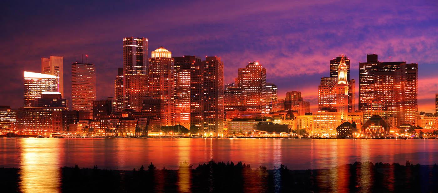 Downtown Boston Skyline - Stock Photo