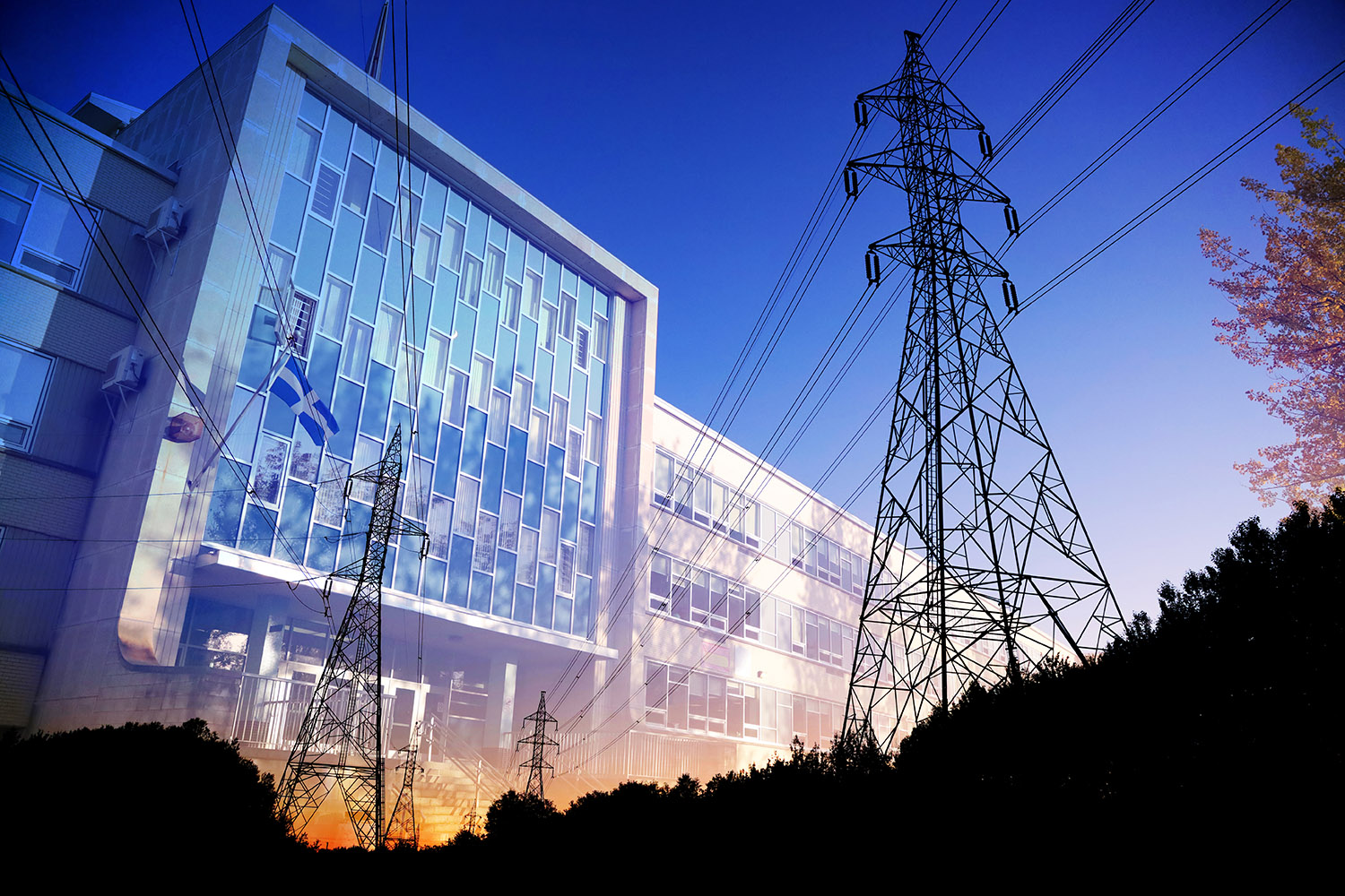 Commercial and Public Building Energy Efficiency - Stock Photo