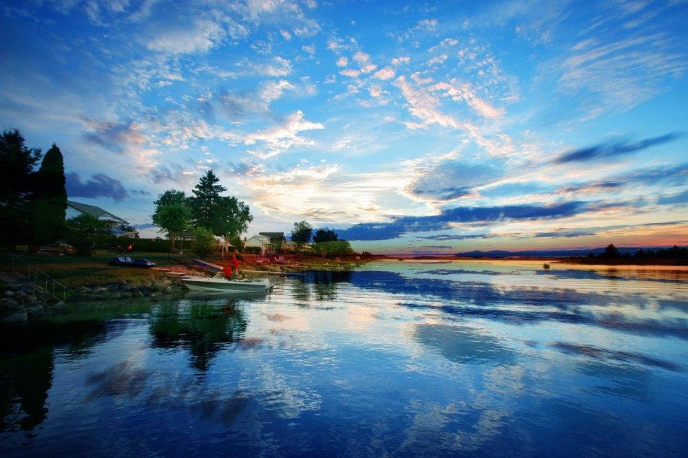 Beautiful Sunset in Saguenay