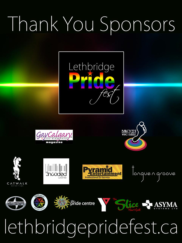 Lethbridge Pride Sponsor Board