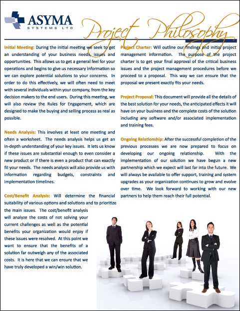 - Asyma Systems Marketing Book - Page 3 - Project Philosophy