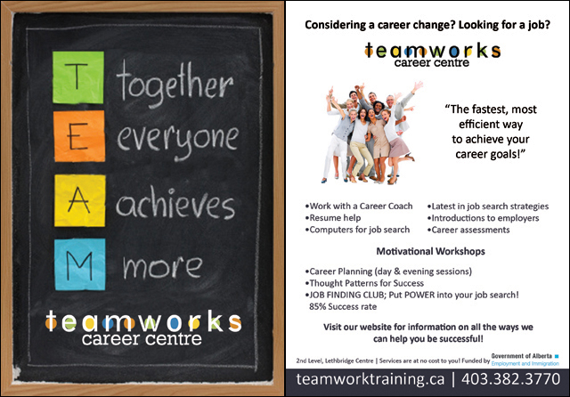 Teamworks Postcard - General Services (1 of 5) Front & Back