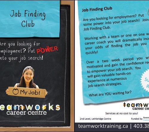 Teamworks Postcard - Job Finding Club (2 of 5) Front & Back