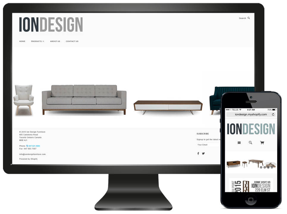 Ion Design Ecommerce Website