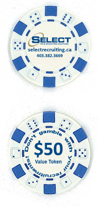 Select Recruiting Poker Chip