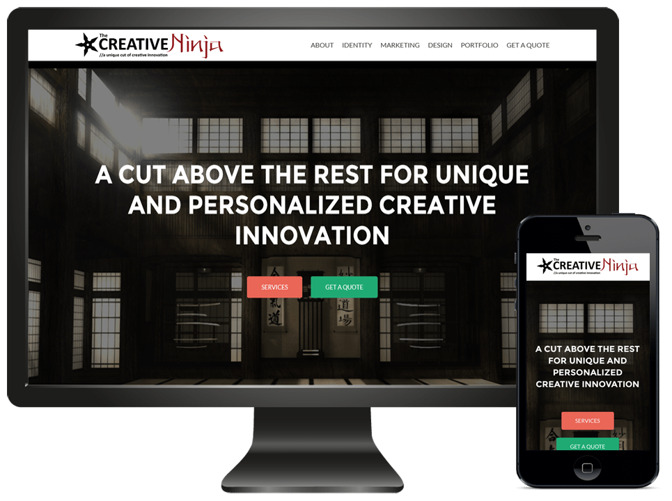 The Creative Ninja Website Version 2