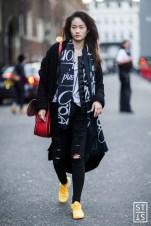 fot. Szymon Brzoska Street Fashion na London Fashion Week SS 2016 19.09.2015 Londyn