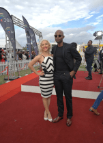 Roxy Burger and Thapelo Mokoena Durban July 2016