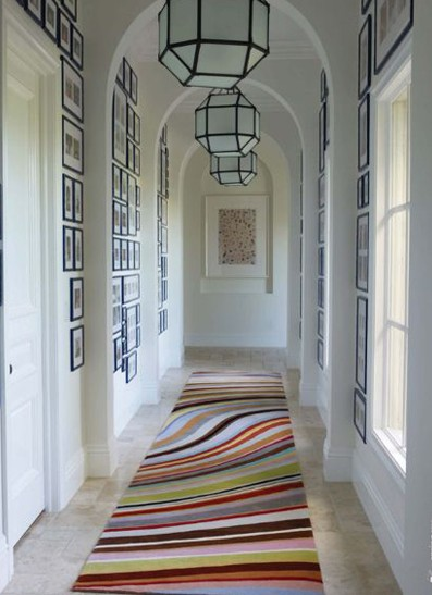 hallway-lighting-geometric-pendant-lights