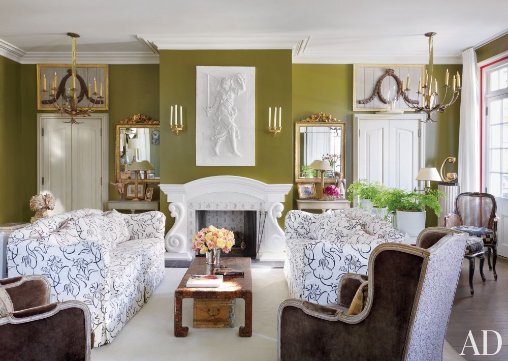 Olive yellow and gold a sophisticated color combination - Olive green living room ...