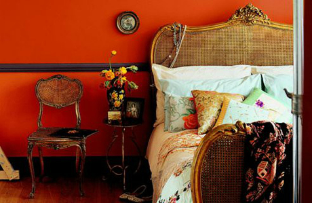 burnt-orange-walls-color-paint-bedroom