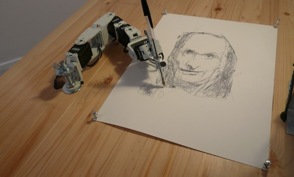 """Meet """"Paul"""" and """"Pete,"""" The Sketching Robots"""