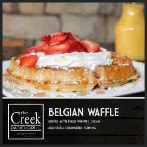 Belgian Waffle - The Creek Patio Grill Sunday Brunch - Cave Creek, Tatum Ranch, Phoenix