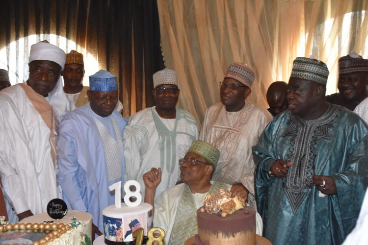 President Babangida with Friends and associates (Photo-The Crest)