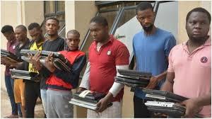 Suspected Yahoo Boys recently arraigned by EFCC