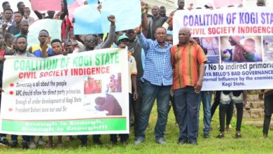 The Kogi State group during the protest