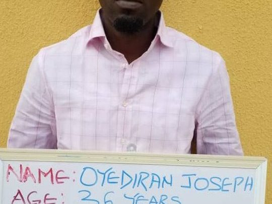The-suspected-fraudster-arrested-by-the-EFCC