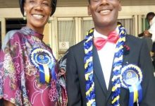 Peter Arotiba and Mum (Photo credit: Daily SUN, Nigeria)