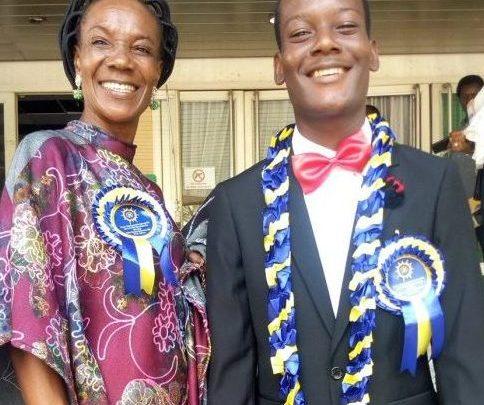 Peter Arotiba and Mum (Photo credit: Daily SUN, Nigeria)