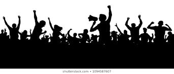 Silhouette of a politician campaigning before a cheering crowd of supporters (illustration by SHUTTERSTOCK .COM)