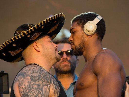 Andy Ruiz and anthony Joshua-weights(Photo-Boxingscene.com)